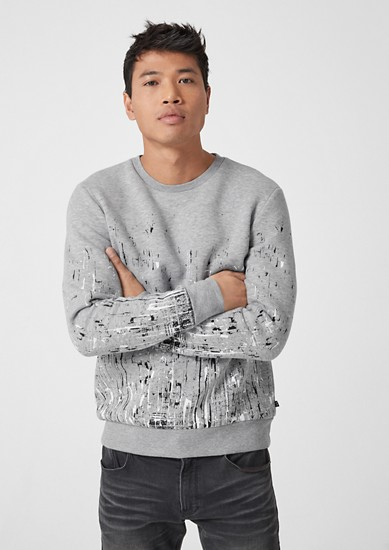 Sweatshirt with an artwork print from s.Oliver