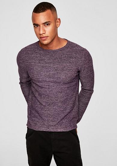 Leichter Strukturstrick-Pullover