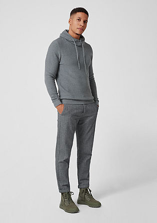 Rick Slim: Trousers with a herringbone pattern from s.Oliver