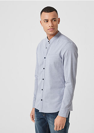 Extra slim: overhemd met opstaande kraag