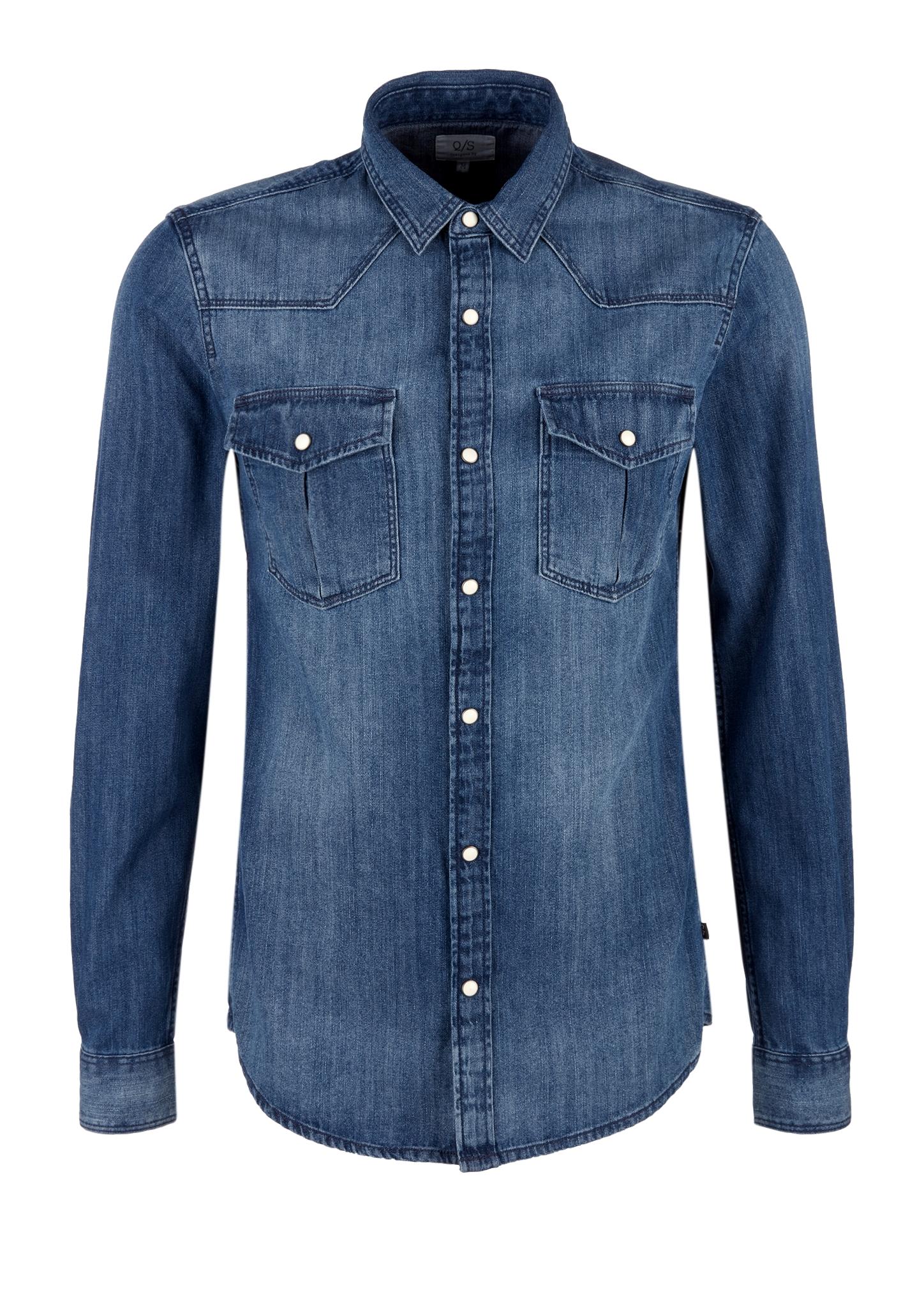 Jeanshemd | Bekleidung > Hemden > Jeanshemden | Blau | 100% baumwolle | Q/S designed by