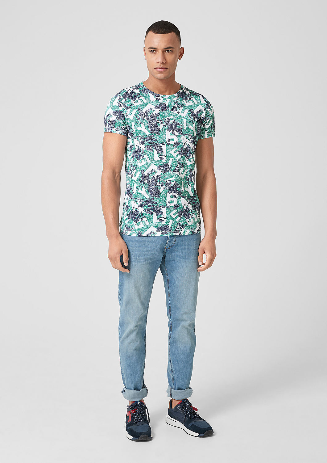 s.Oliver - T-Shirt mit Allover-Print - 1
