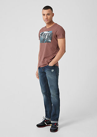 Pete regular: jeans in used look