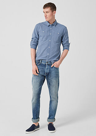 Extra Slim: shirt with chest pockets from s.Oliver