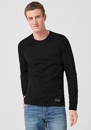 Majica dolg rokav z dvojno obrobo