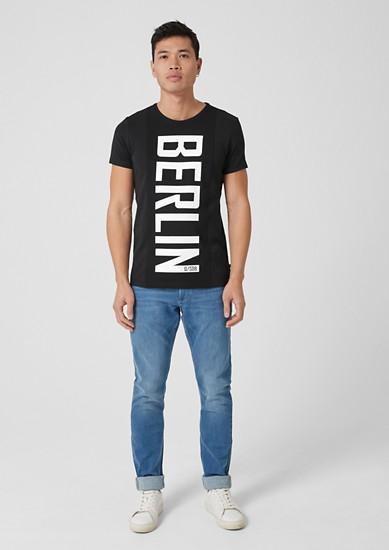 Statement-Shirt mit Mesh