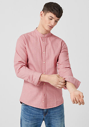 Extra Slim Fit: shirt with a woven pattern from s.Oliver
