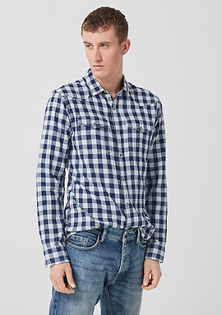 Extra Slim: lightweight check shirt from s.Oliver