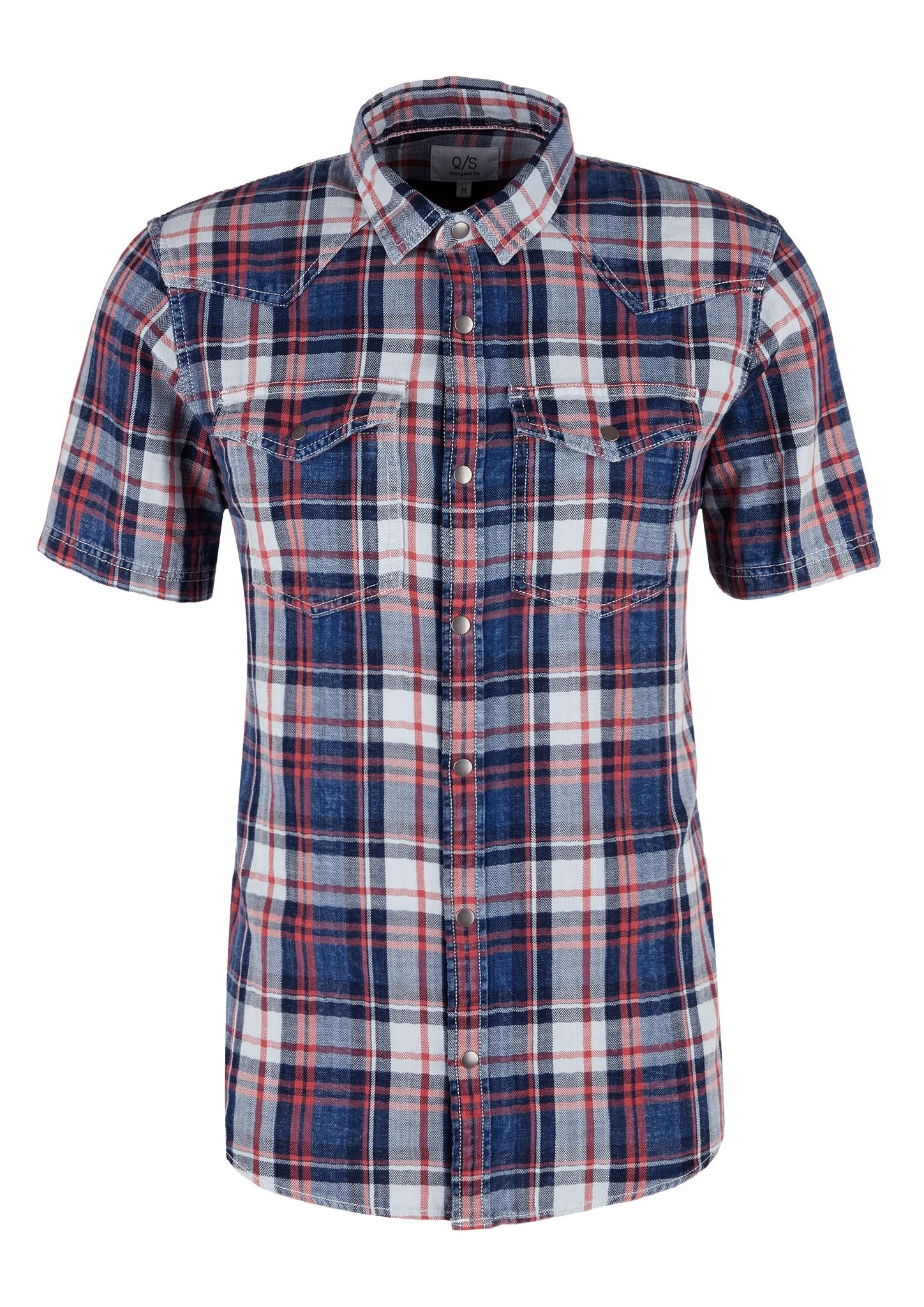 Karohemd | Bekleidung > Hemden > Sonstige Hemden | Blau | 100% baumwolle | Q/S designed by