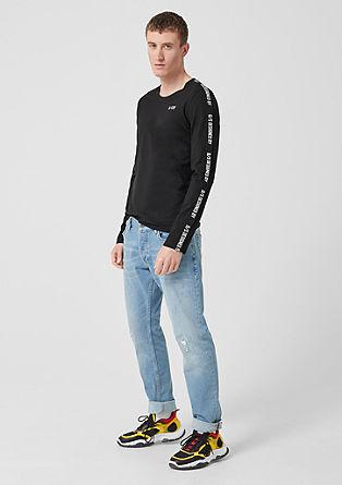 tričko sdlouhým rukávem aproužkem s logem