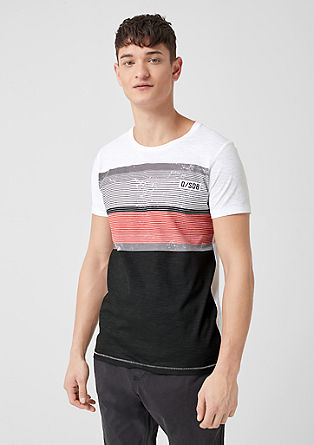 Casual shirt in strepenlook