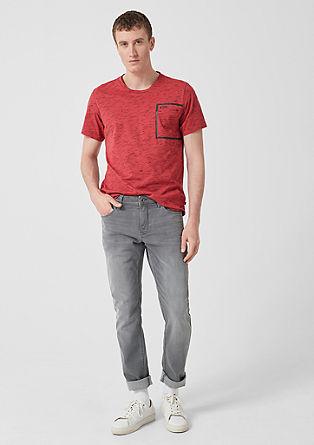 T-Shirt in Slub Yarn-Optik