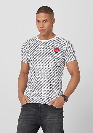 T-shirt met logomania design