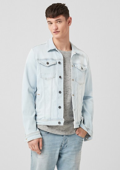 Denim jacket with distressed details from s.Oliver