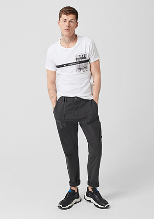 Elroy Slim: Worker-style chinos from s.Oliver