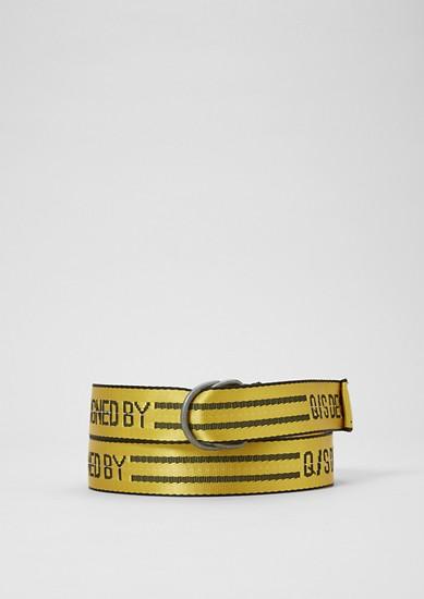 Belt with statement lettering from s.Oliver