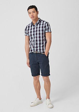 Extra slim: geruit overhemd