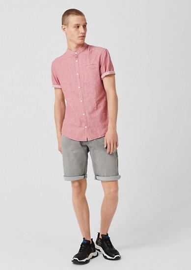 Extra Slim: Hemd mit Fischgrat-Muster