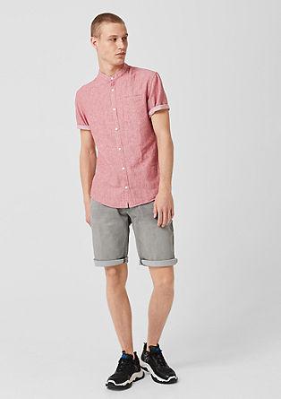 Extra slim: overhemd met visgraatmotief