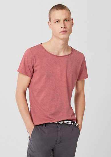 T-shirt with a melange effect from s.Oliver