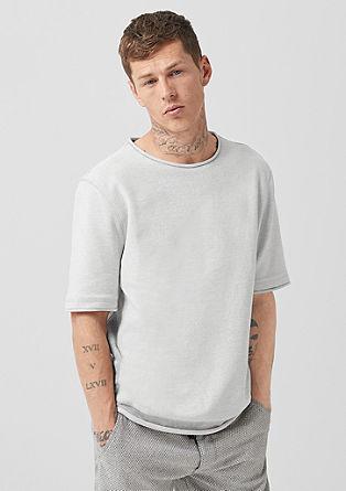 Lässiges Struktur-Sweatshirt