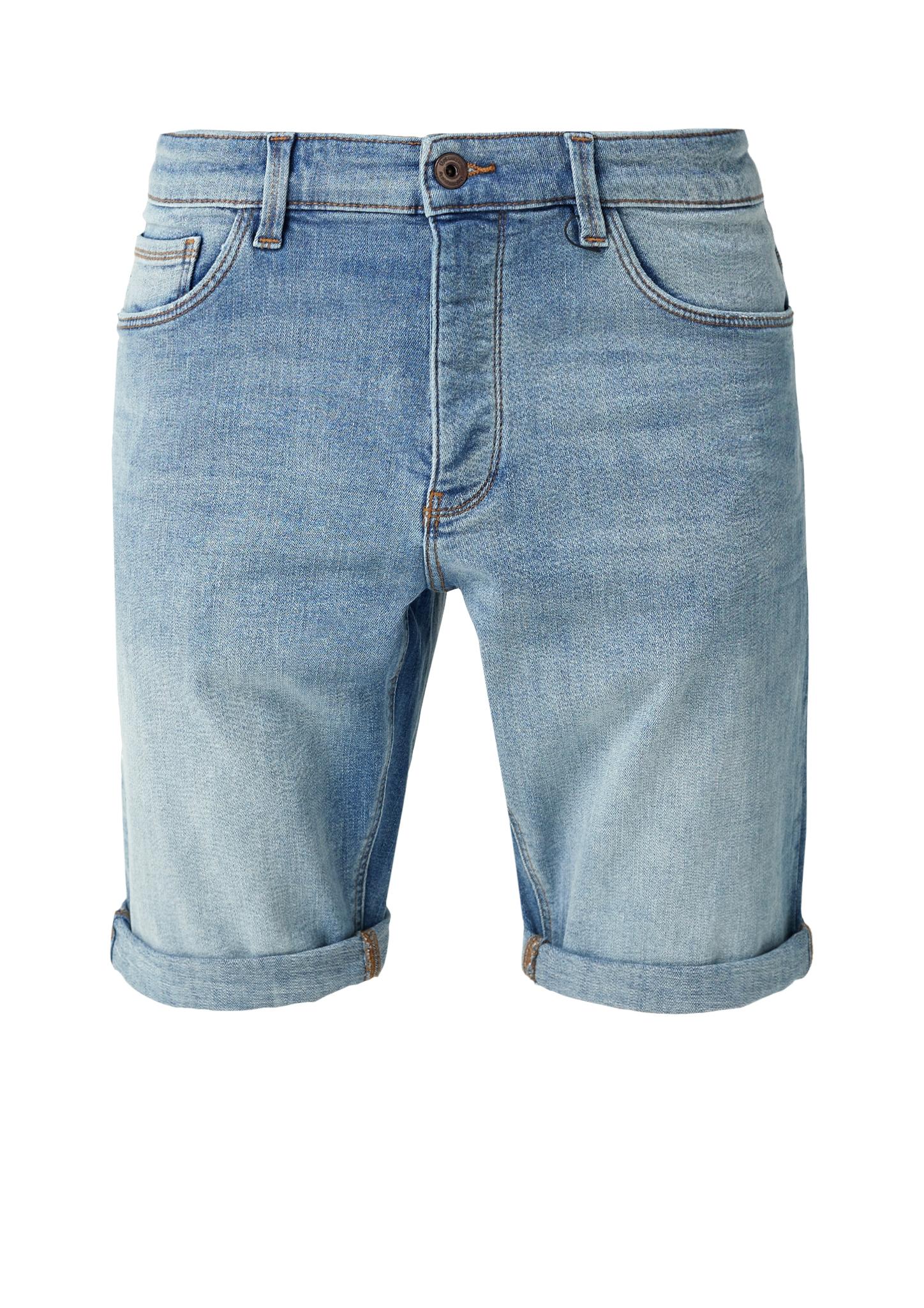 Baumwoll-Bermuda | Bekleidung > Shorts & Bermudas | Blau | 98% baumwolle -  2% elasthan | Q/S designed by