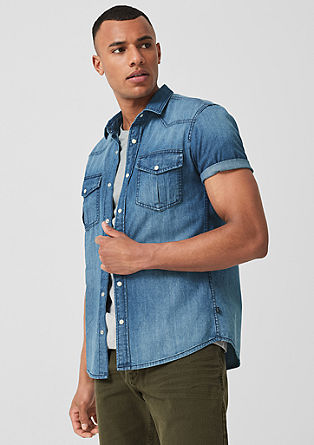 Extra Slim: Denim shirt from s.Oliver