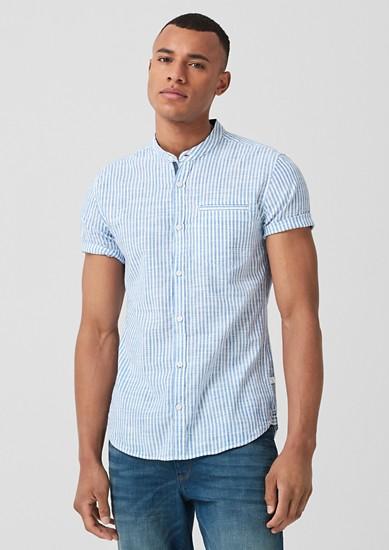 Extra Slim: chemise manches courtes à rayures de s.Oliver