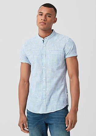 Extra Slim: črtasta srajca s kratkimi rokavi