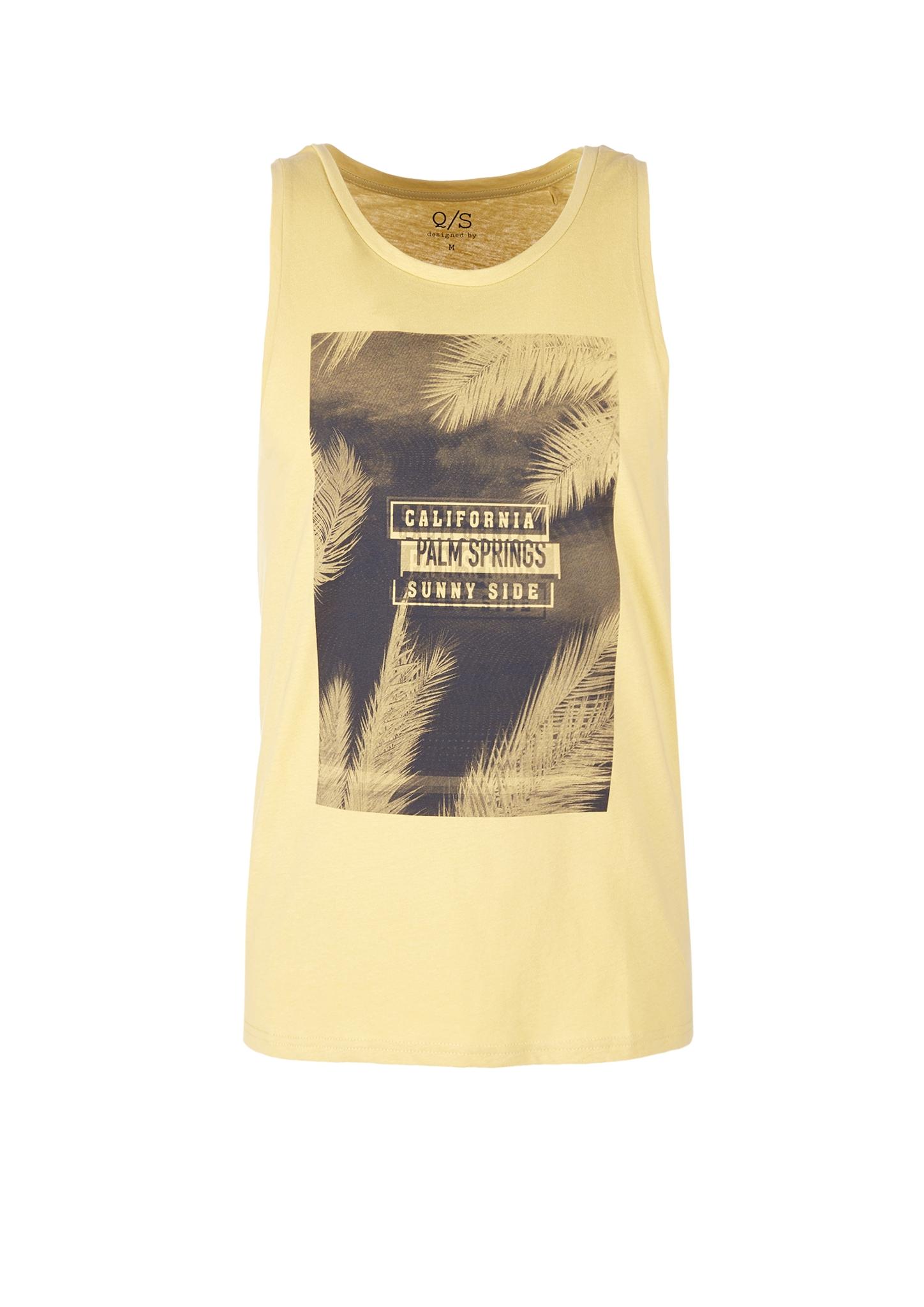 T-Shirt ärmellos   Bekleidung > Shirts > T-Shirts   Gelb   100% baumwolle   Q/S designed by