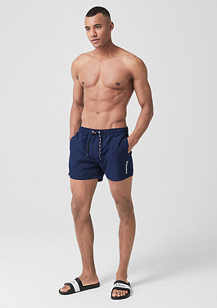 d1b1b61efd Swim trunks with logo drawstring from s.Oliver