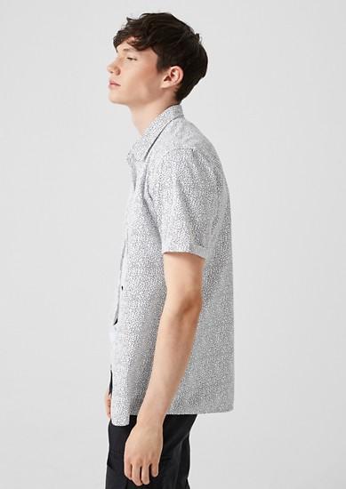 Extra Slim: Gemustertes Kurzarmhemd
