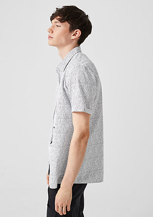 Extra Slim: patterned short sleeve shirt from s.Oliver