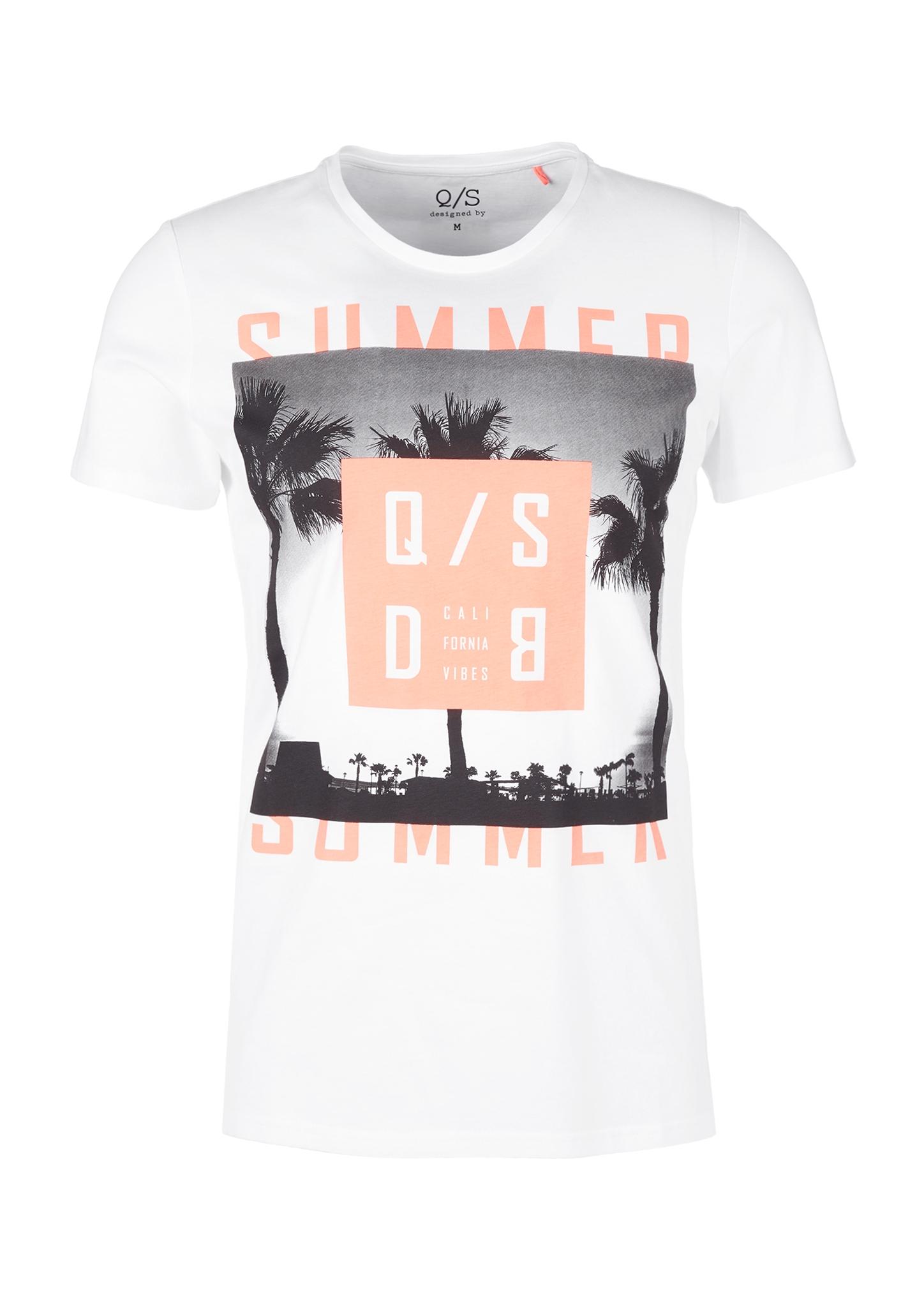 T-Shirt | Bekleidung > Shirts > Sonstige Shirts | Weiß | 65% polyester -  35% baumwolle | Q/S designed by