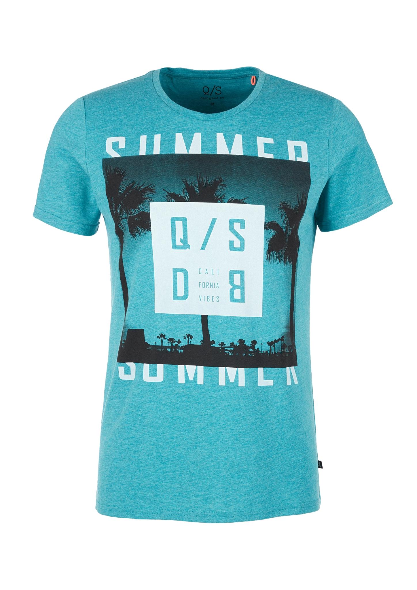 T-Shirt | Bekleidung > Shirts > Sonstige Shirts | Blau | 65% polyester -  35% baumwolle | Q/S designed by