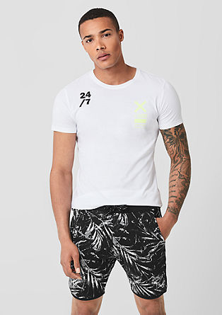 Kurze Sweatpants mit Print