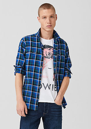 Extra Slim: shirt with a check pattern from s.Oliver