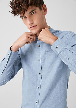 Extra Slim: shirt with a stand-up collar from s.Oliver