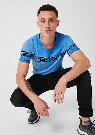 T-shirt met een garment-washed effect