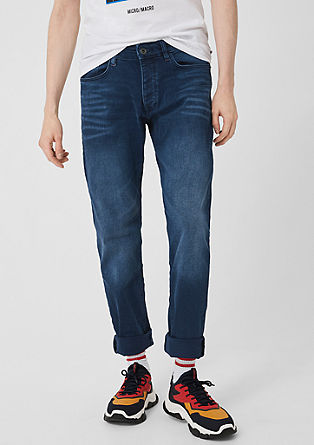 Rick Slim: Jeans with a garment-washed effect from s.Oliver