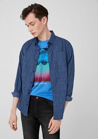 Extra slim: overhemd met motief