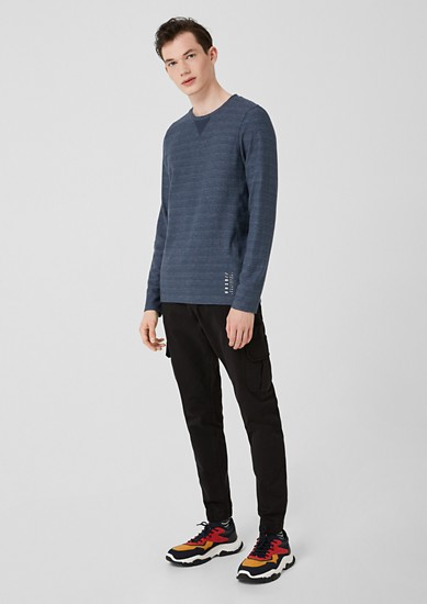 Long sleeve top with a ribbed texture from s.Oliver