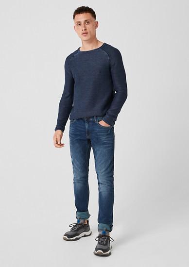 Gavin skinny: jeans met slijtageplekken