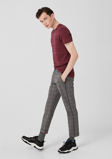 Elroy Slim: Chinos in a Prince of Wales check style from s.Oliver