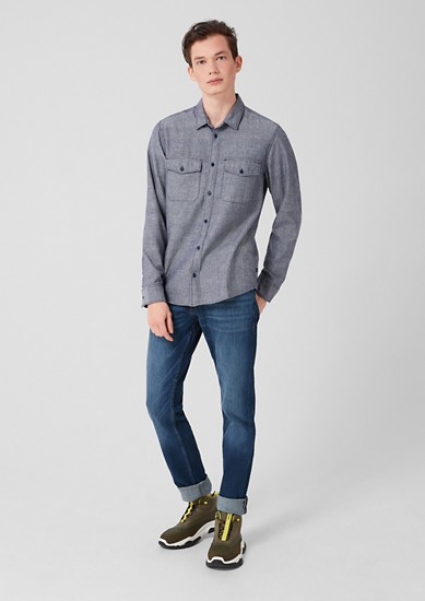 Extra Slim: Hemd mit Neppy-Effekt