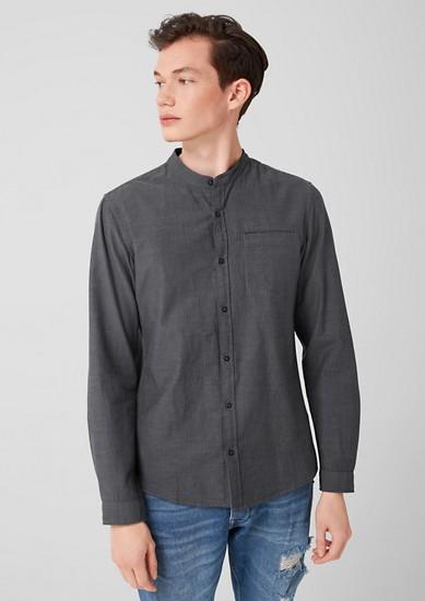 Extra Slim: Hemd mit Stehkragen