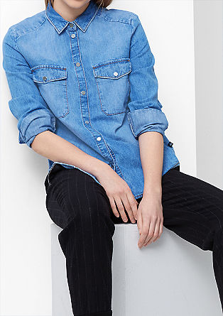 Denim shirt with large pockets from s.Oliver