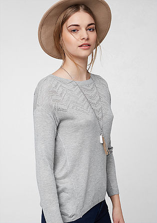 Lightweight knit jumper with a pattern from s.Oliver