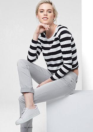 Catie Slim: schmale Hose in Farbe