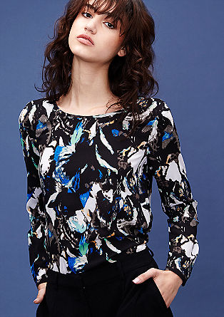 Blouse top with a fantasy print from s.Oliver